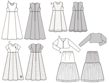 Moldes de vestidos de comunion