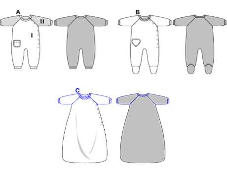 Beautiful Free Baby Onesie Sewing Pattern Gallery - Easy Scarf ...
