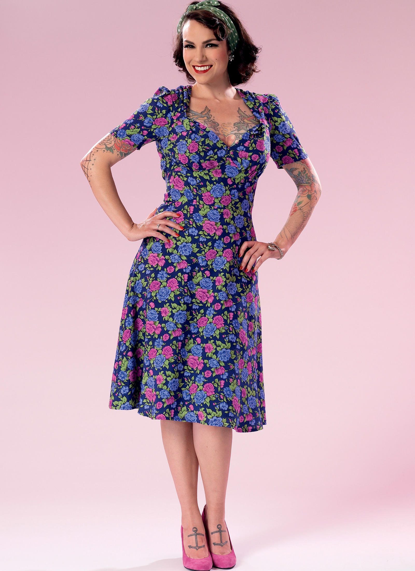Butterick 6380 Misses  Sweeheart-Neckline Dress with Gathered Bodice f0ce863c0