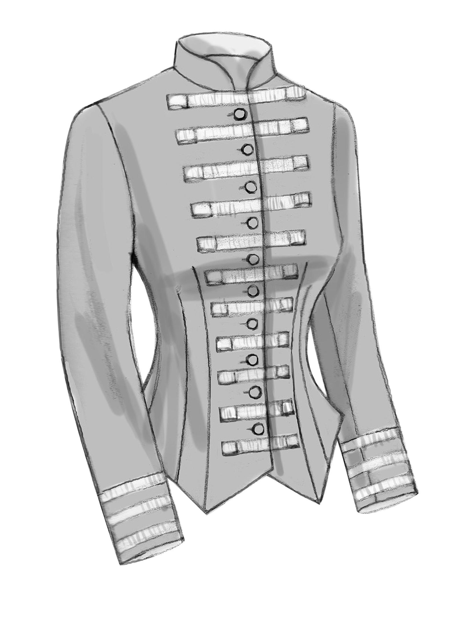 Historical Victorian Boned Back Pleat Jacket Costume Sewing Pattern 6 8 10 12 14