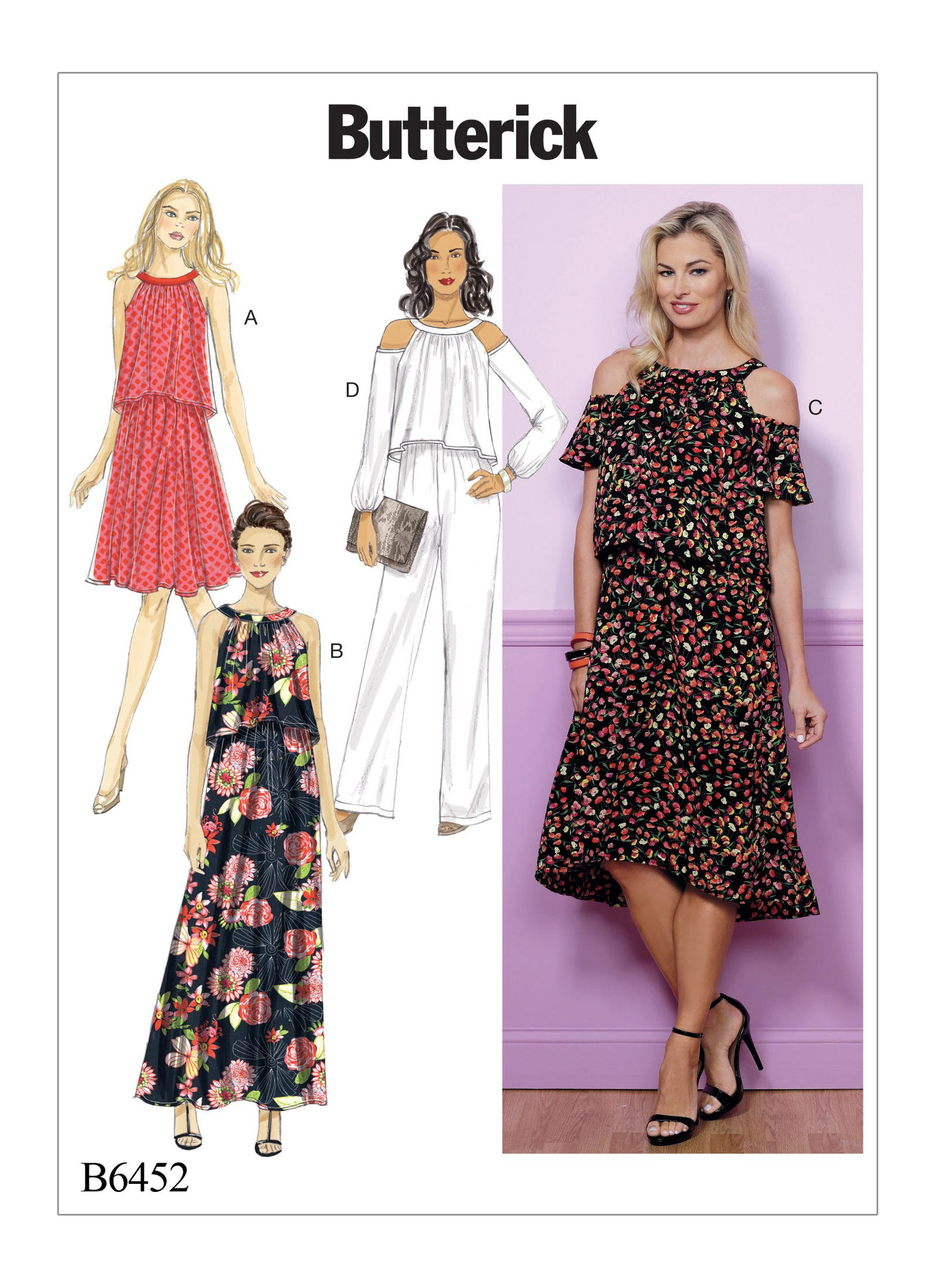 Butterick 6452 Misses/' Dress and Jumpsuit     Sewing Pattern
