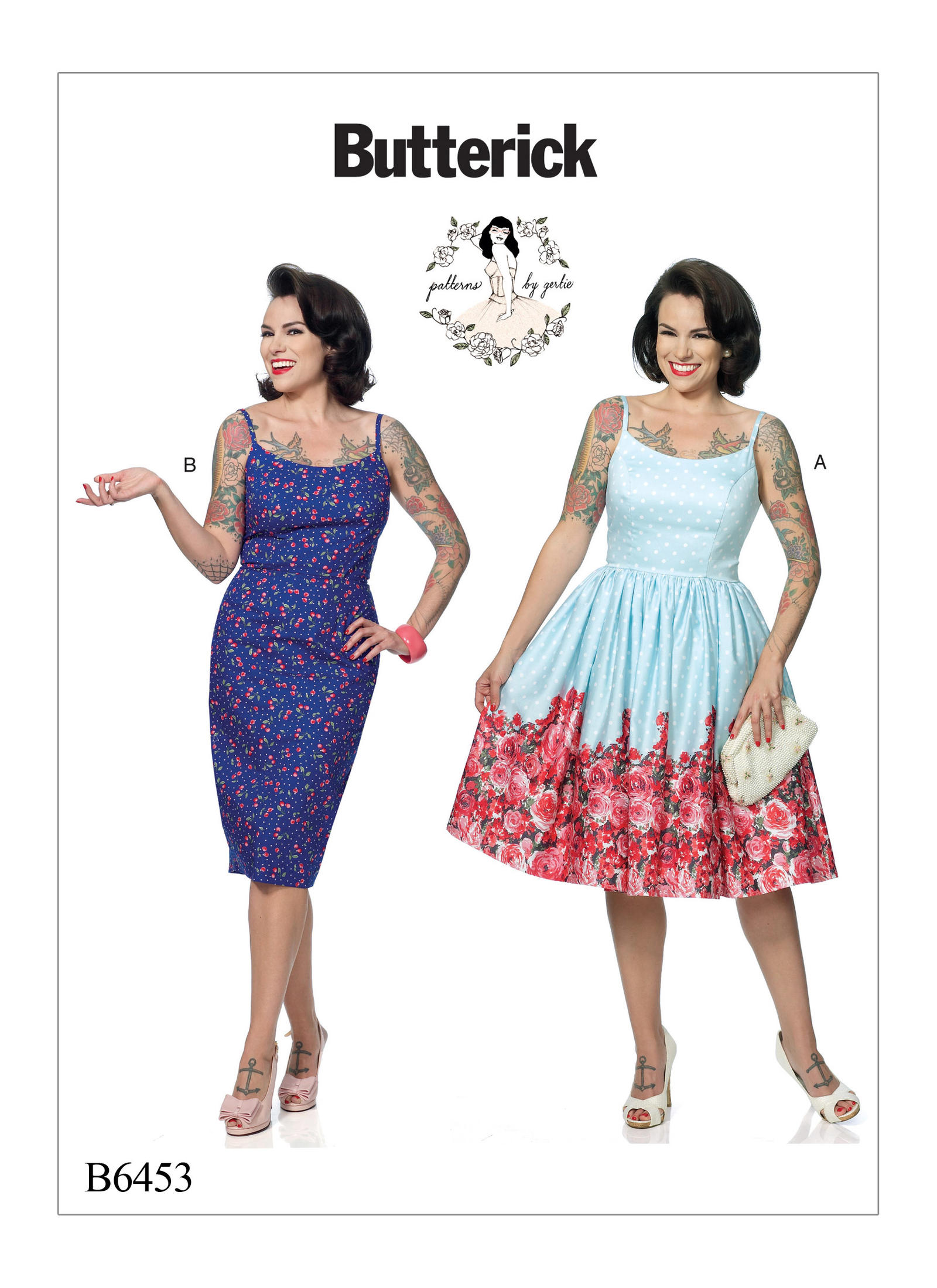 Butterick Misses' Princess Seam Dresses with Straight or Gathered Skirt 6453