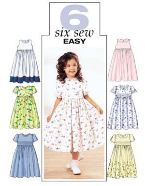 Butterick 3762 Easy Children S Dress