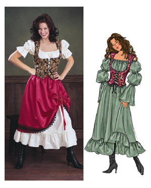 butterick 3906 misses costumes