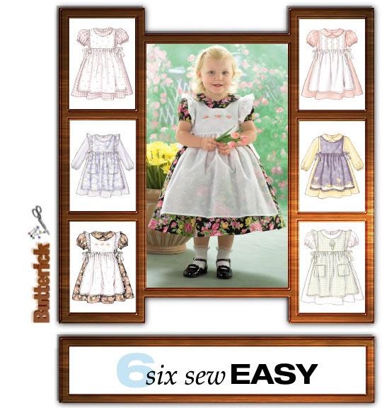f957b9e90ed5 Butterick 4054 Toddler Dress and Pinafore