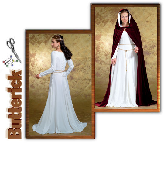 Butterick 4377 Misses\' Medieval Dress
