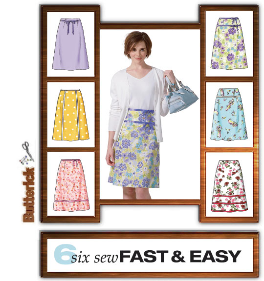 Butterick 4461 Six Sew Fast & Easy
