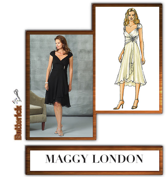 Butterick 4657 Maggy London Ruched Dress