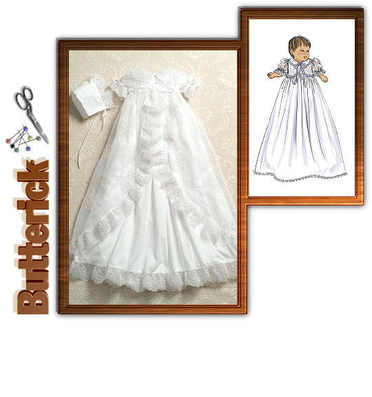 Butterick 4964 Baptism Gown