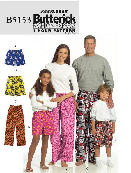 Butterick 5153 lounge pants