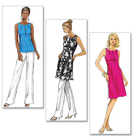 Butterick 5450 Missesmisses Petite Top Tunic And Dress
