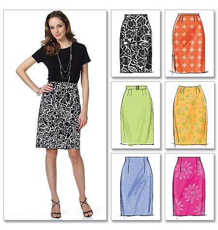 Butterick 5466 Misses Skirt And Belt
