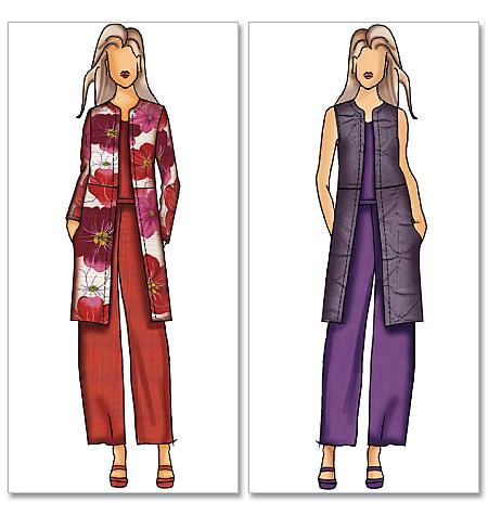 PrevNext - Butterick 5473 Misses'/Women's Jacket, Vest And Pants