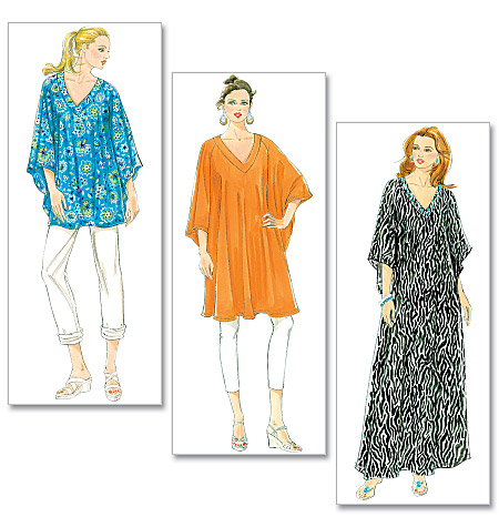 Butterick 5494 Misses\' Top, Tunic and Caftan