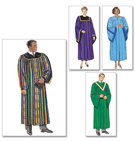 Butterick 5626 Unisex Choir Robe And Collar