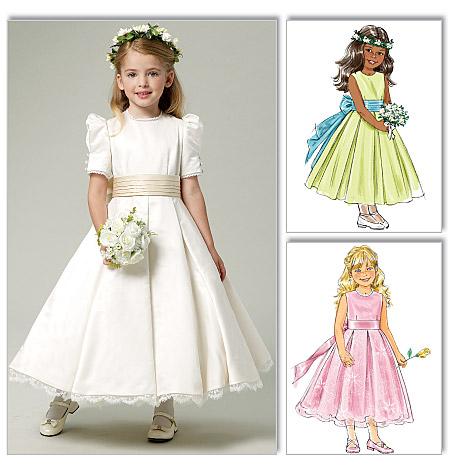 Butterick 5705 Children S Girls Dress And Cummerbund