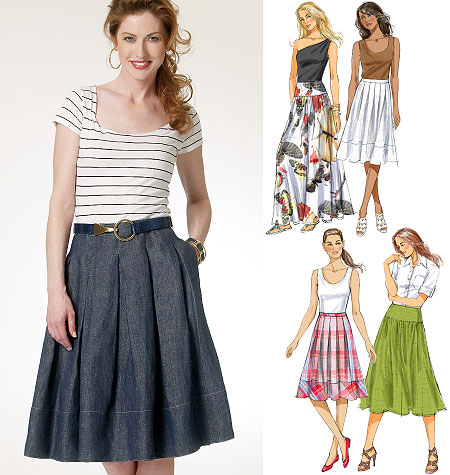 Butterick 5756 Misses Skirt
