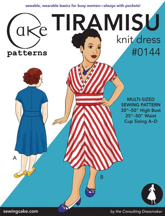 Cake Patterns 0144 Tiramisu Knit Dress