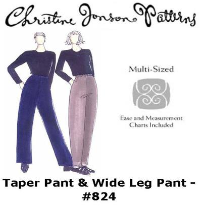 Christine Jonson 824 Taper Pant & Wide Leg Pant