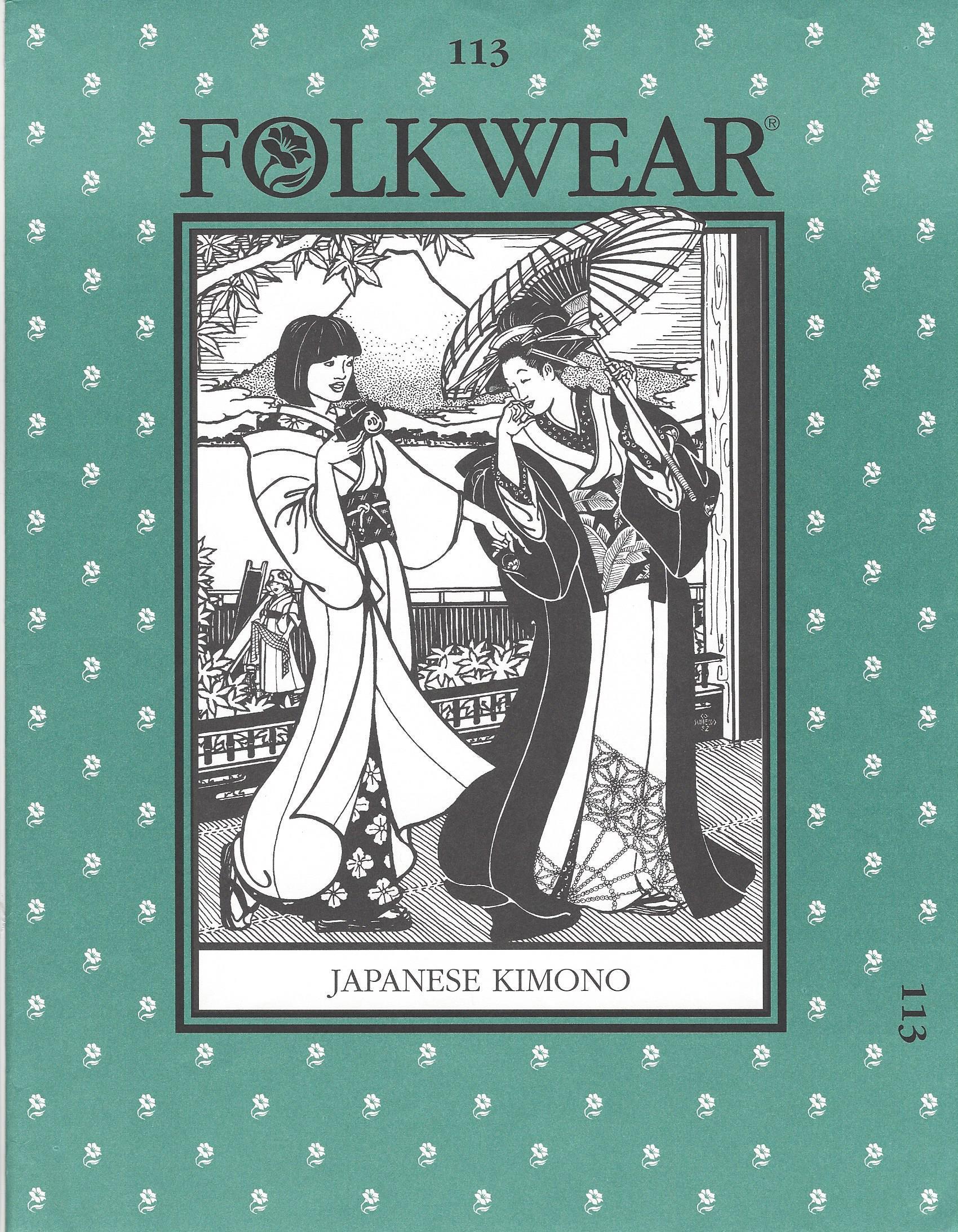 Folkwear 113 Japanese Kimono Pattern