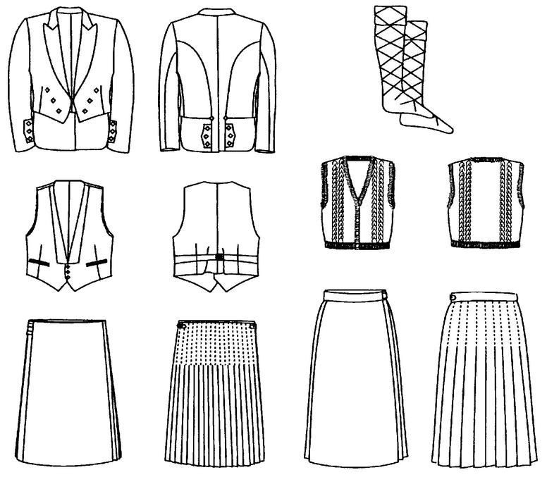 Folkwear 152 Scottish Kilts