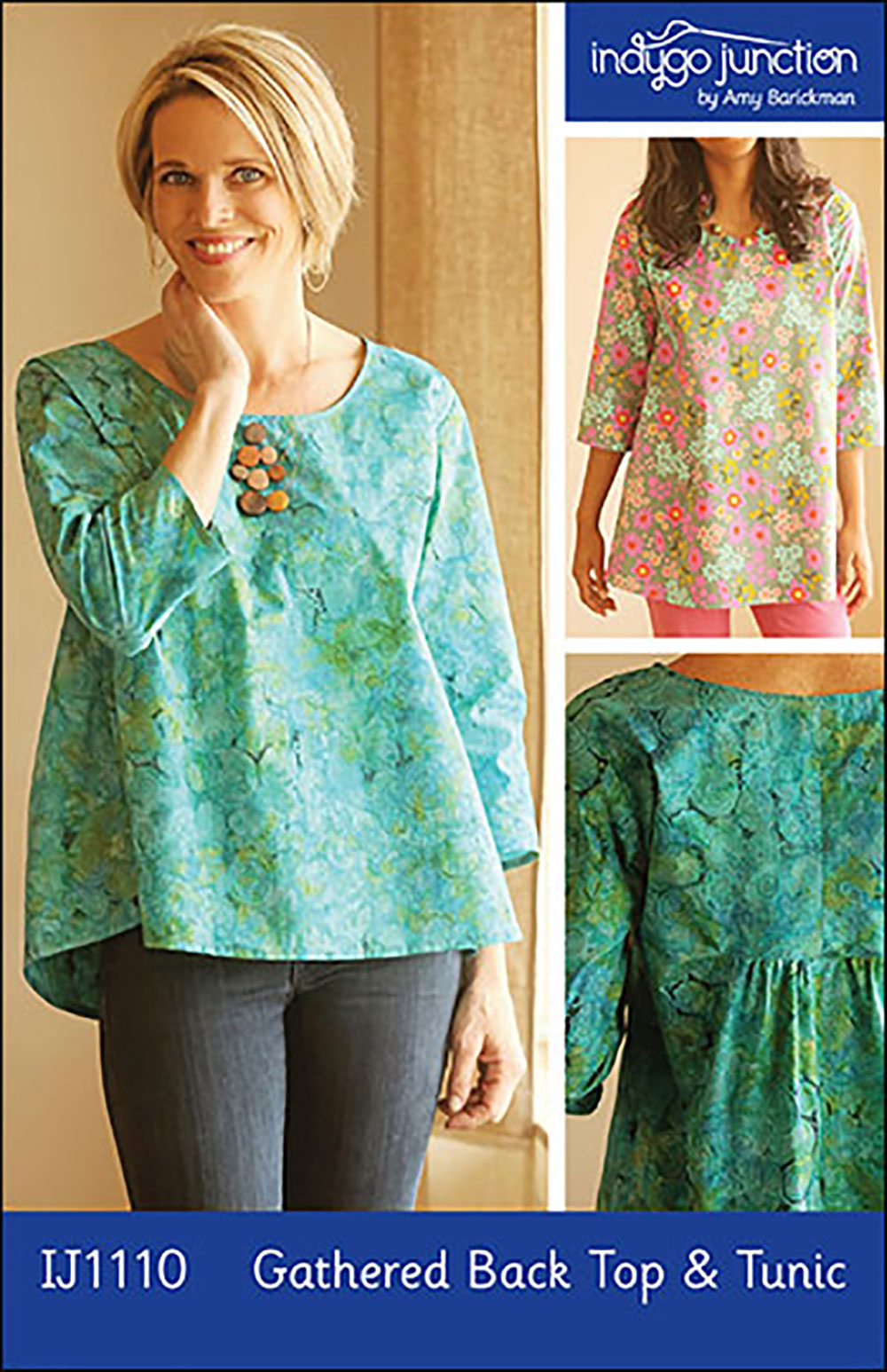 Indygo Junction IJ1110 Gathered Back Top & Tunic