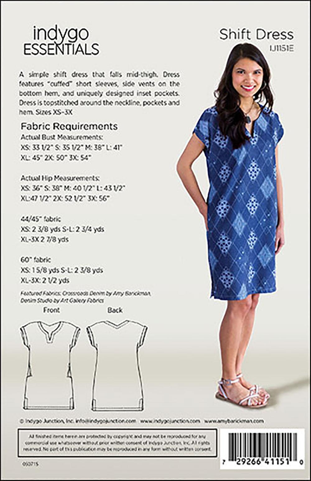 Indygo Junction Ij1151e Indygo Essentials Shift Dress