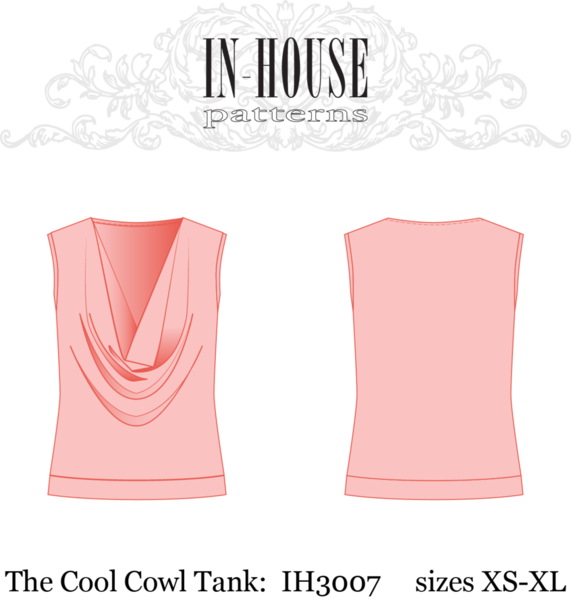 In-House 3007 Cool Cowl Tank Downloadable Pattern