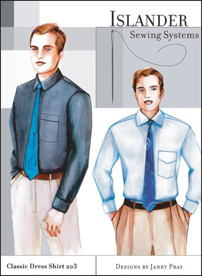 Islander Sewing Systems Men's Classic Dress Shirt Pattern