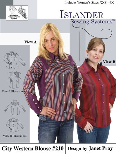Islander Sewing Systems 210 Womens City Western Blouse