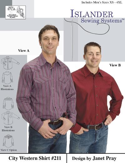Islander Sewing Systems 211 Mens City Western Shirt