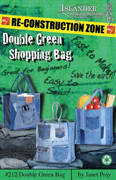 Islander Sewing Systems Double Green Shopping Bag Pattern