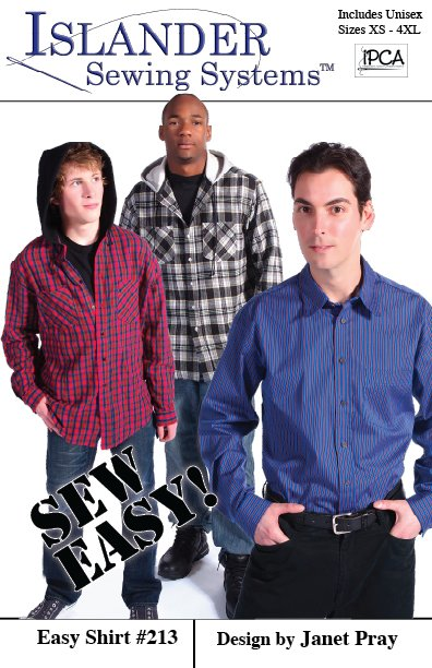 Islander Sewing Systems Men's Easy Shirt Pattern