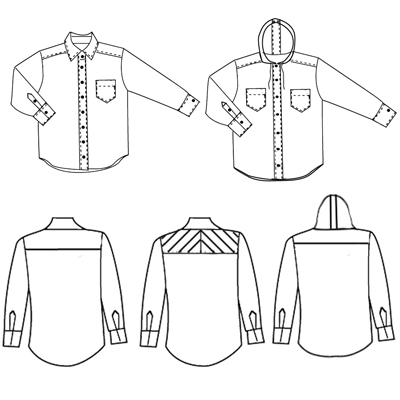 Islander Sewing Systems 213 Mens Easy Shirt