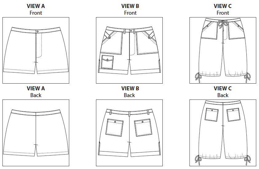 Itch to Stitch ITS006 Angelia Shorts Downloadable Pattern