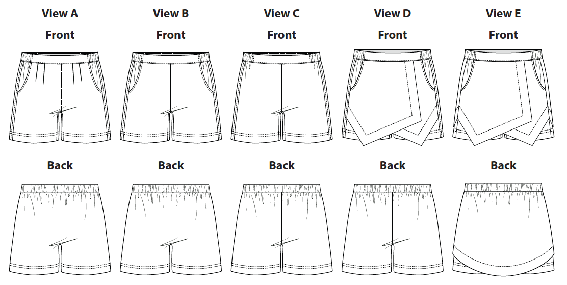 Itch to Stitch ITS020 Belize Shorts & Skort Downloadable Pattern