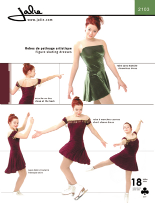 Jalie 2103 Figure Skating Dress With Or Without Sleeves