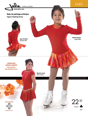 Jalie 2683 Figure Skating Dress Zip Back