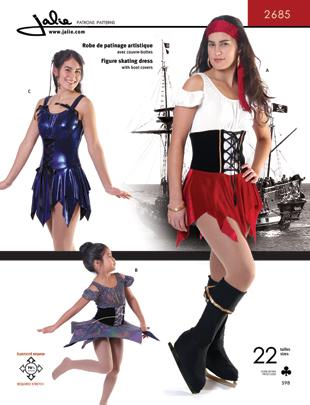 Jalie 2685 Figure Skating Dress Pirate