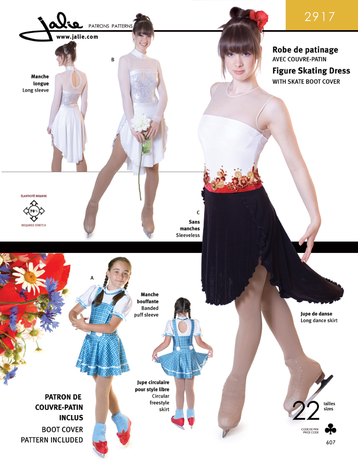 Jalie 2917 Figure Skating Dresses (dance and freestyle)
