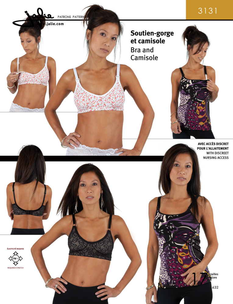 jalp 3131 Jalie Donna facile Sewing Pattern 3131 Reggiseno e corpetto