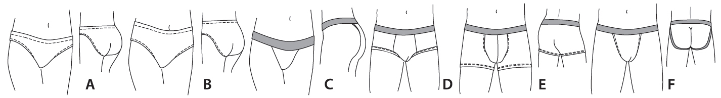 Jalie 3242 Underwear for Men, Women and Children