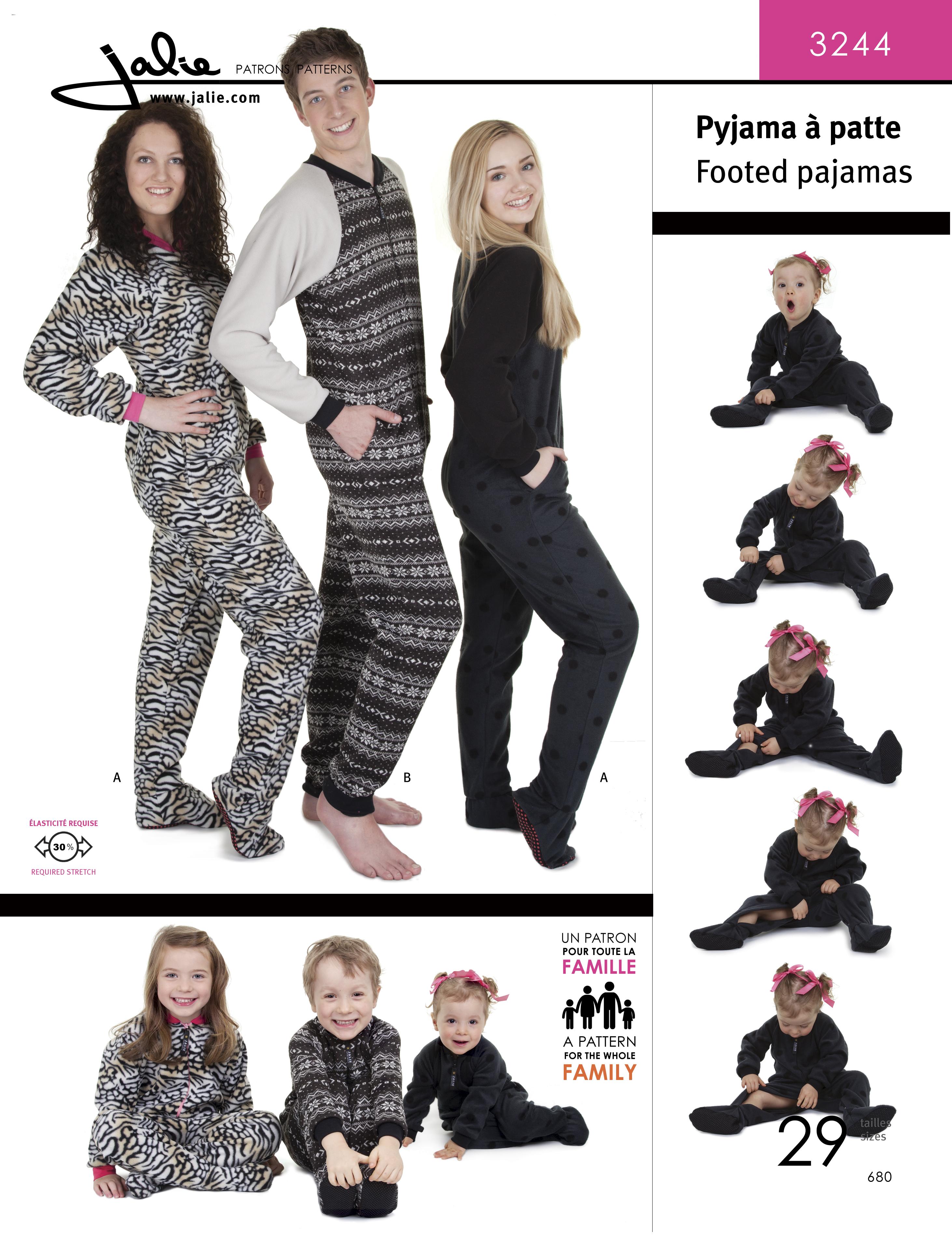 Jalie 3244 Footed Pajamas