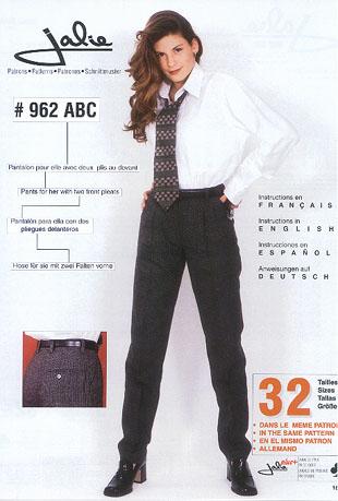 962 jalie 962 pleated pants