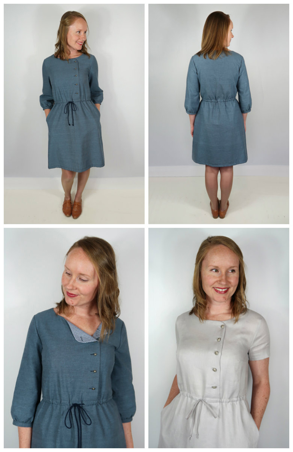 a02065e008de5 Jennifer Lauren is back with a basic, easy to make, pull on and go, shirt  dress. With 3 different sleeve lengths this pattern can bring you straight  through ...