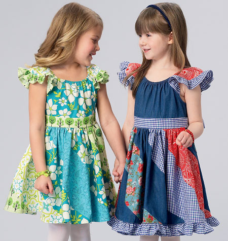 Kwik Sew 0184 Girls\' Dresses