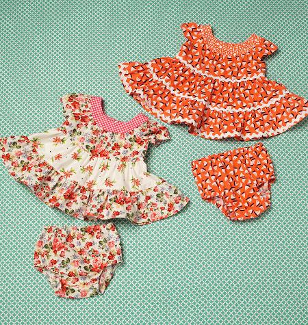 Kwik Sew 0198 Baby Dresses and Panties