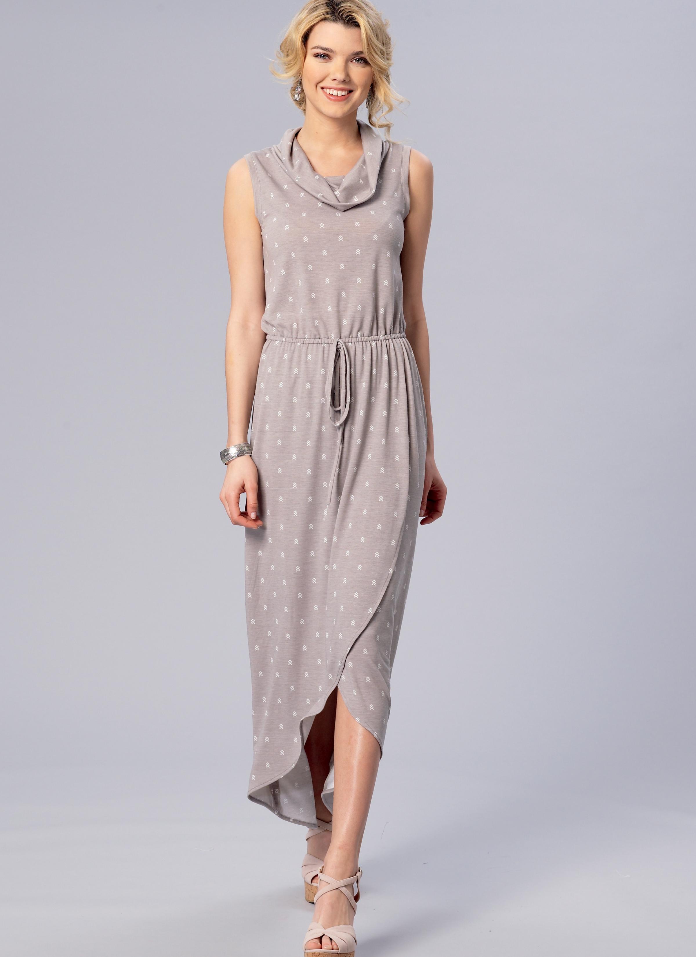 Kwik Sew 4171 Misses Elastic Waist Tulip Hem Dresses