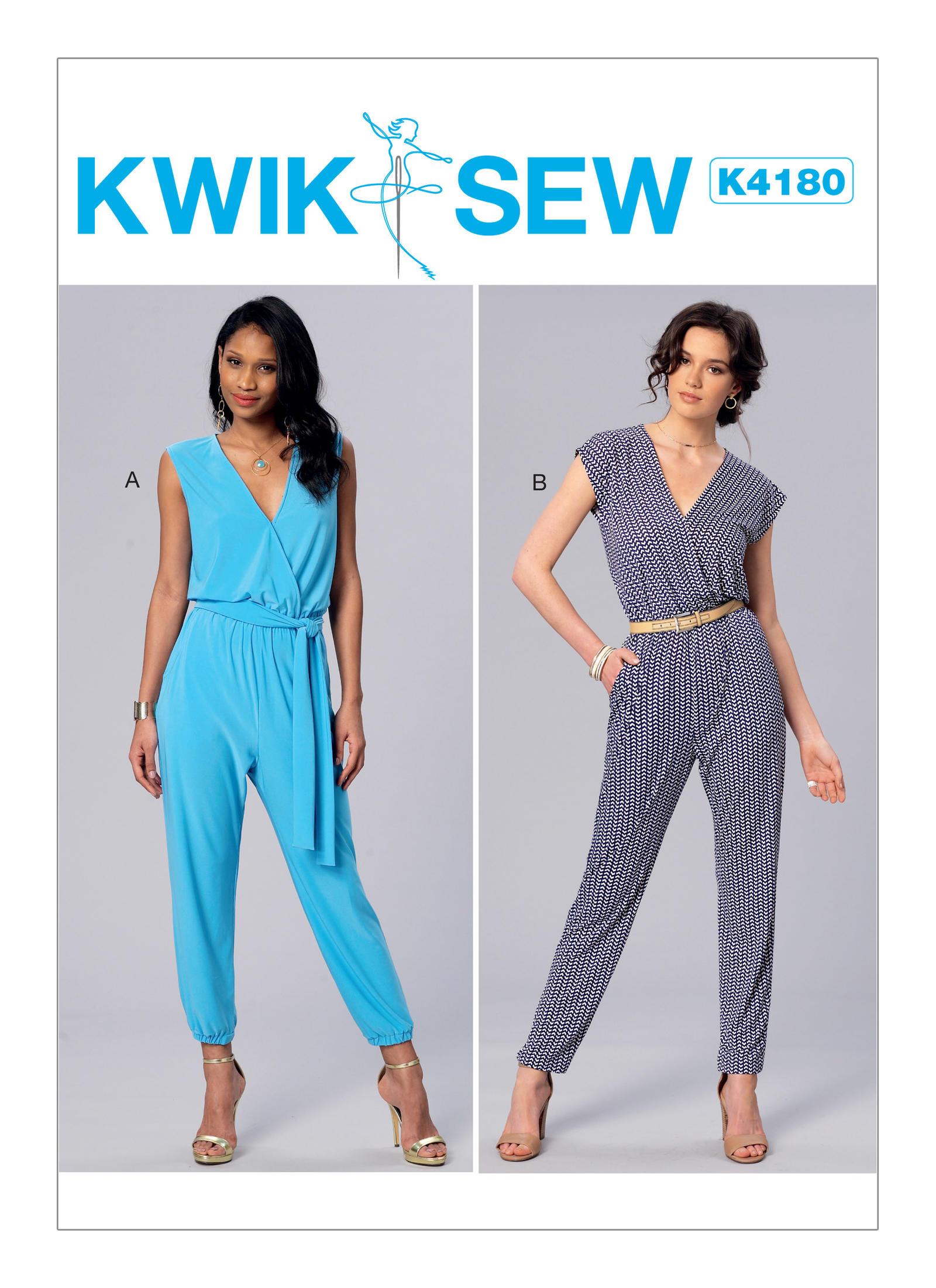 Kwik sew 4180 misses surplice blouson jumpsuits and sash prevnext jeuxipadfo Choice Image