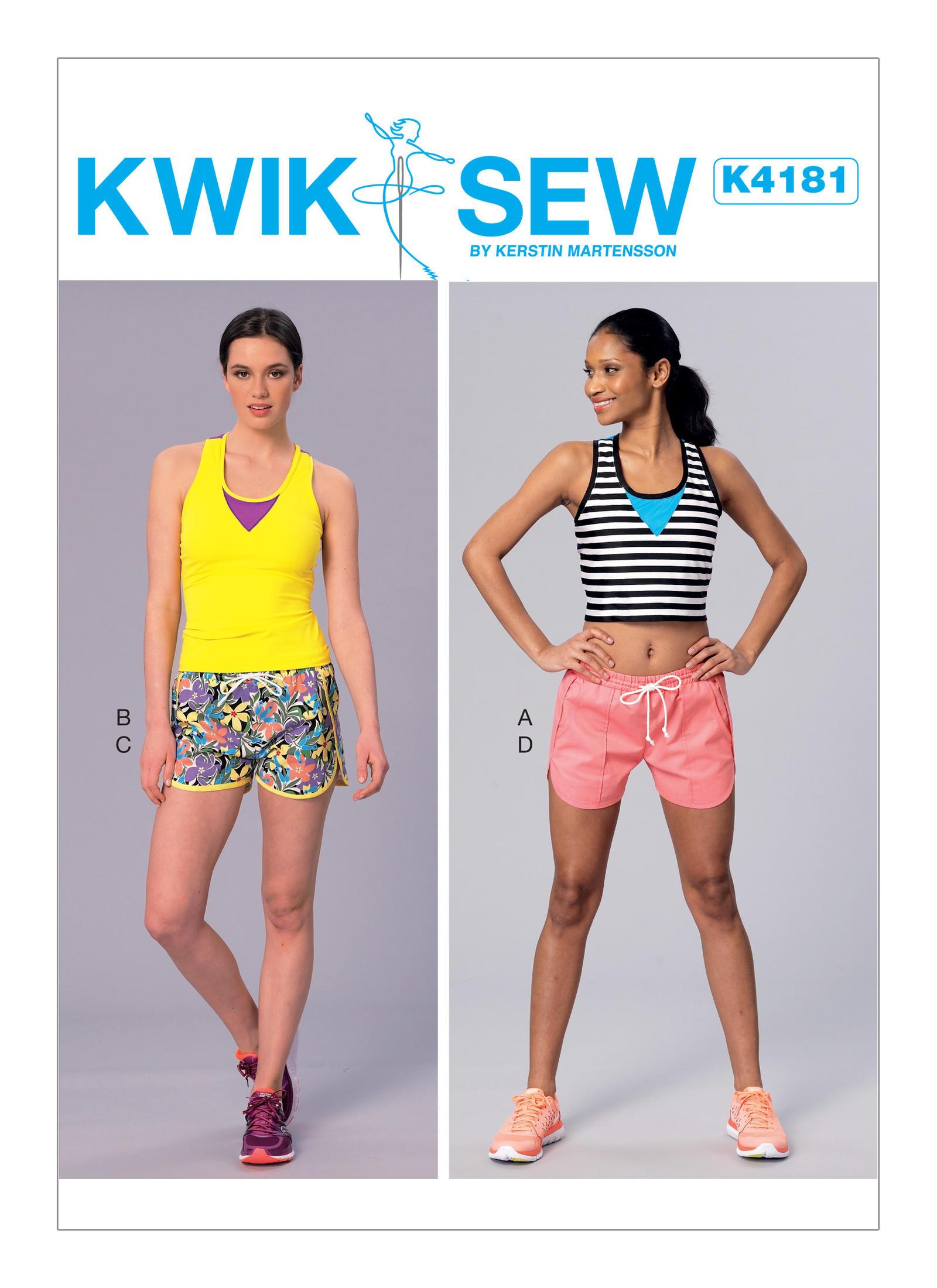 Kwik sew 4181 misses racerback tops and drawstring shorts prevnext jeuxipadfo Choice Image